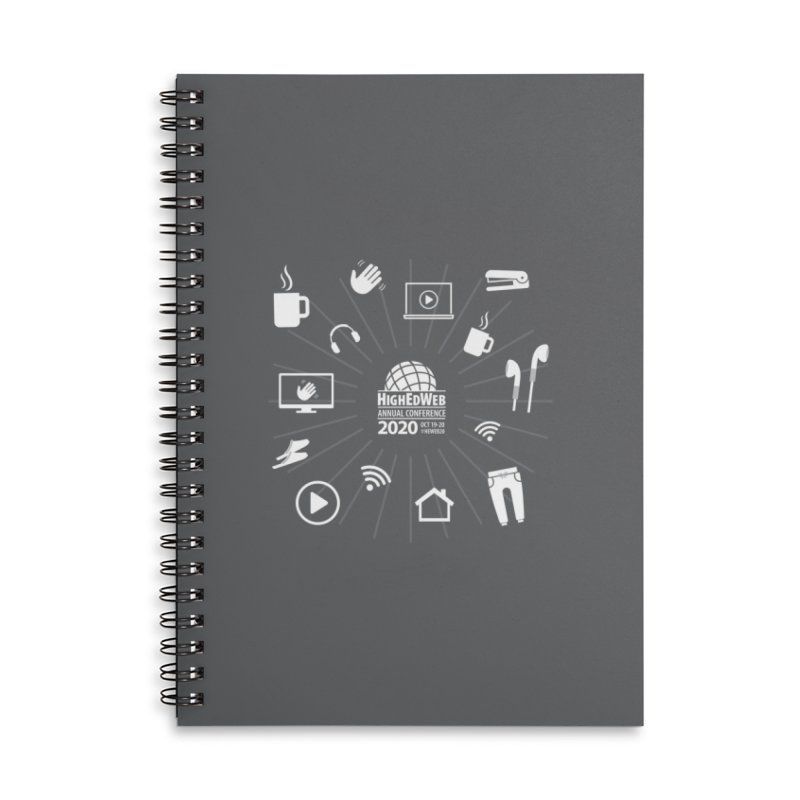 HighEdWeb 2020 Annual Conference — Reversed Icon Burst Accessories Notebook by HighEdWeb Apparel and Accessories