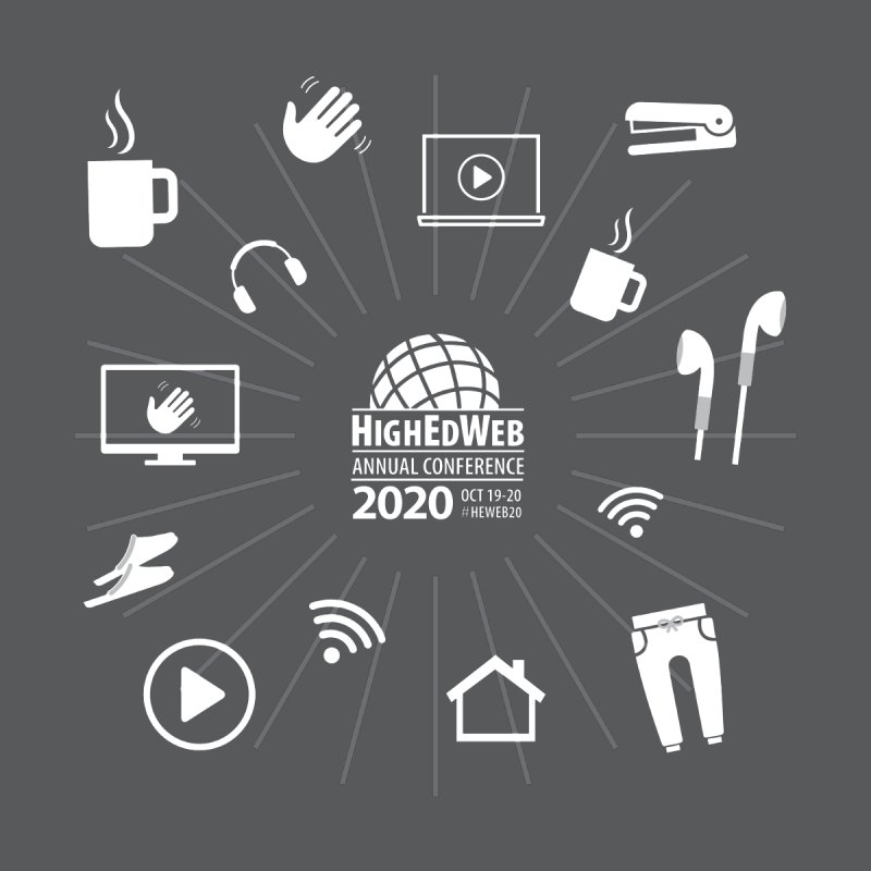 HighEdWeb 2020 Annual Conference — Reversed Icon Burst Women's Longsleeve T-Shirt by HighEdWeb Apparel and Accessories