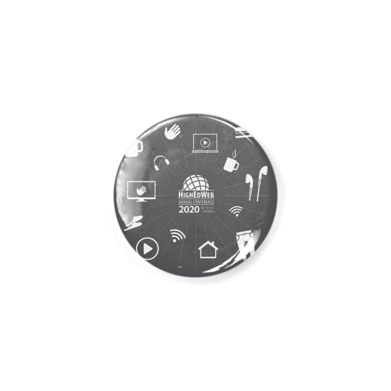 HighEdWeb 2020 Annual Conference — Reversed Icon Burst Accessories Button by HighEdWeb Apparel and Accessories