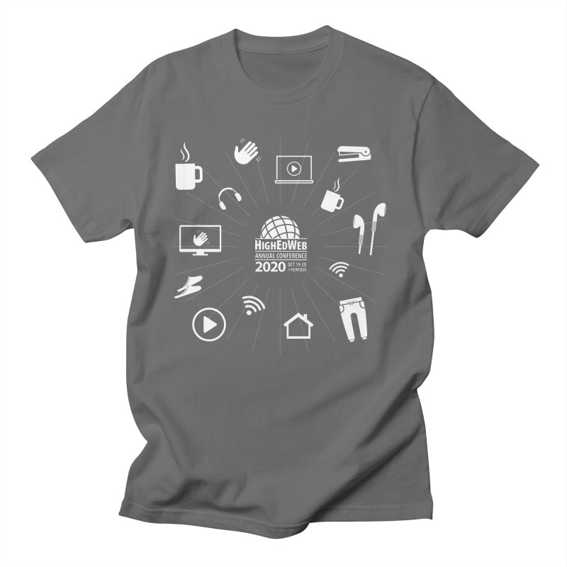 HighEdWeb 2020 Annual Conference — Reversed Icon Burst Men's T-Shirt by HighEdWeb Apparel and Accessories