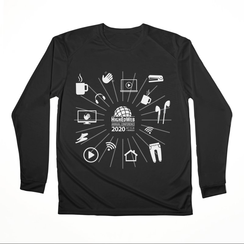 HighEdWeb 2020 Annual Conference — Reversed Icon Burst Men's Longsleeve T-Shirt by HighEdWeb Apparel and Accessories
