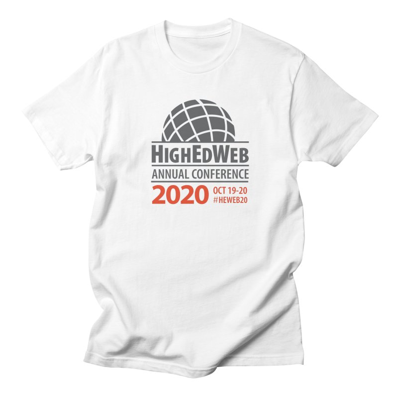 HighEdWeb 2020 Annual Conference — Conference Logo Men's T-Shirt by HighEdWeb Apparel and Accessories