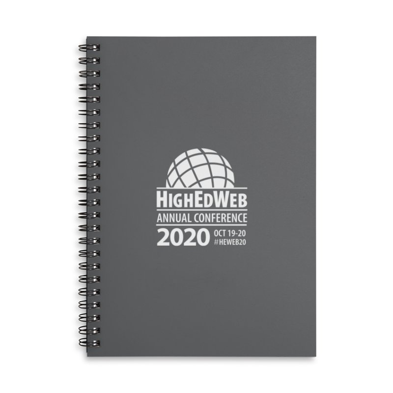 HighEdWeb 2020 Annual Conference — Reversed Conference Logo Accessories Notebook by HighEdWeb Apparel and Accessories