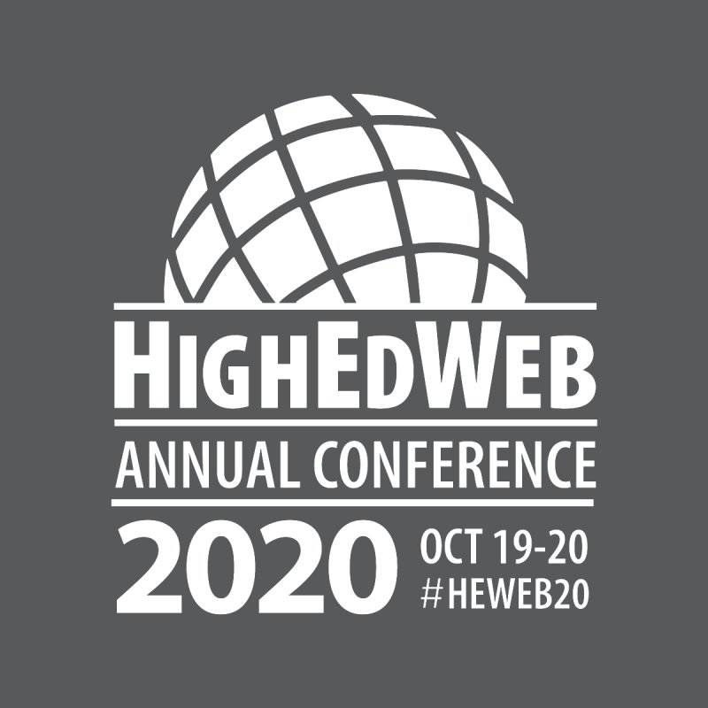 HighEdWeb 2020 Annual Conference — Reversed Conference Logo Accessories Button by HighEdWeb Apparel and Accessories
