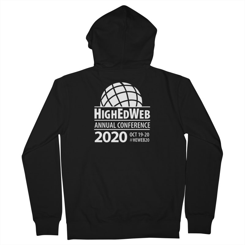 HighEdWeb 2020 Annual Conference — Reversed Conference Logo Men's Zip-Up Hoody by HighEdWeb Apparel and Accessories
