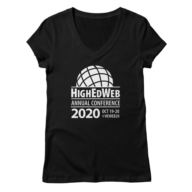 HighEdWeb 2020 Annual Conference — Reversed Conference Logo Women's V-Neck by HighEdWeb Apparel and Accessories