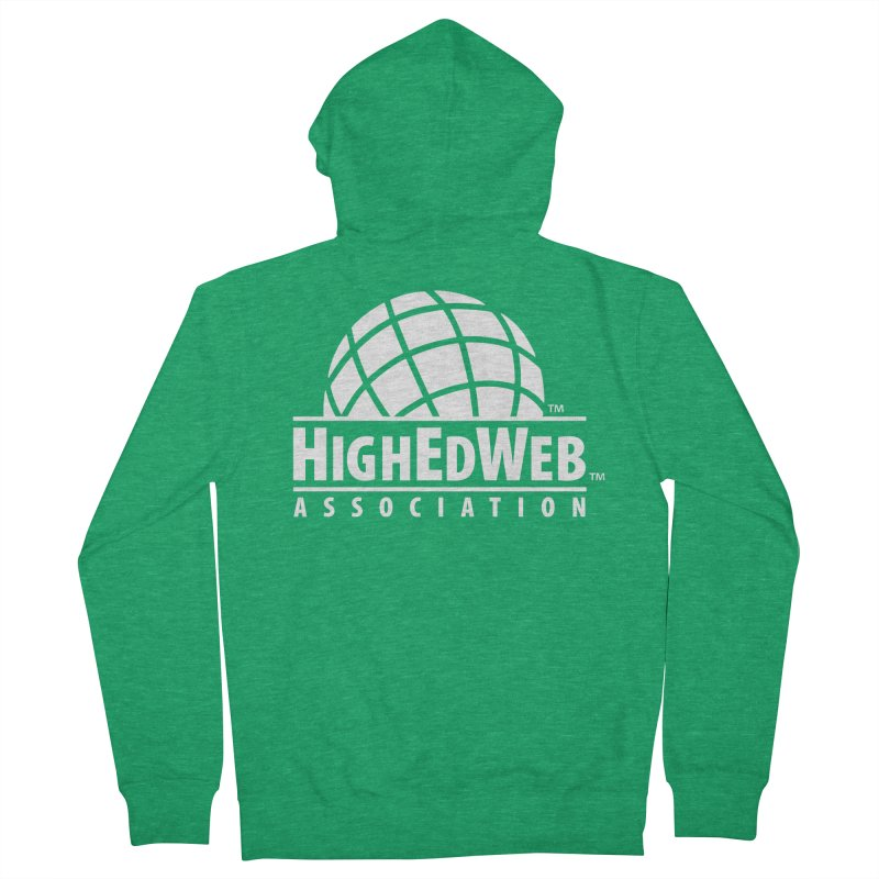 HighEdWeb Reversed Classic Logo Women's Zip-Up Hoody by HighEdWeb Apparel and Accessories