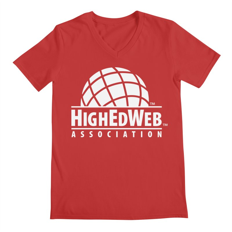 HighEdWeb Reversed Classic Logo Men's V-Neck by HighEdWeb Apparel and Accessories