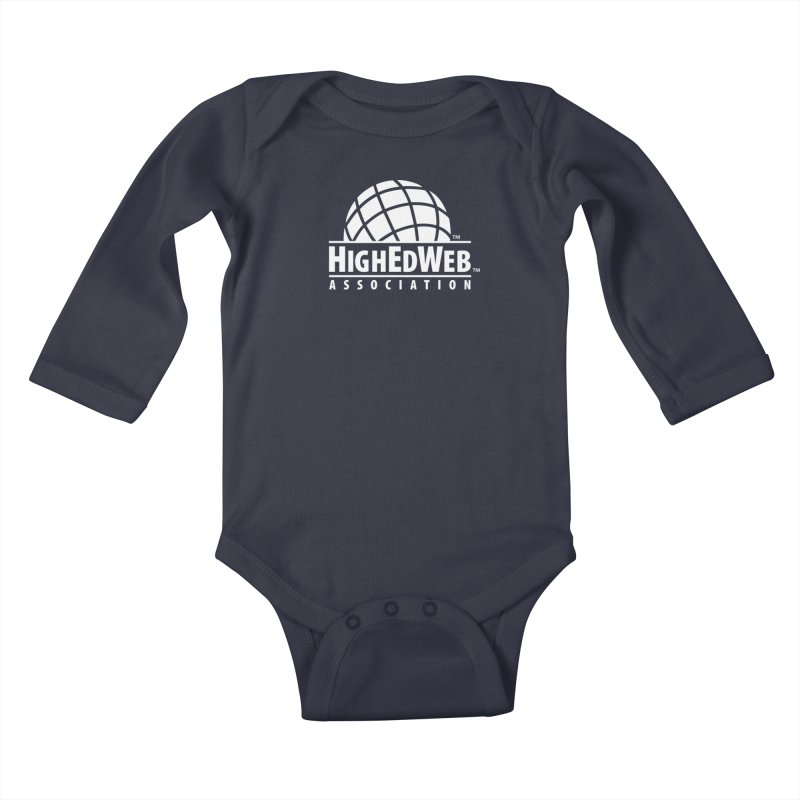 HighEdWeb Reversed Classic Logo Kids Baby Longsleeve Bodysuit by HighEdWeb Apparel and Accessories