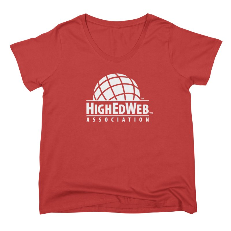 HighEdWeb Reversed Classic Logo Women's Scoop Neck by HighEdWeb Apparel and Accessories