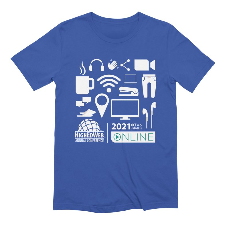 HighEdWeb 2021 Annual Conference — Reversed Men's T-Shirt by HighEdWeb Apparel and Accessories