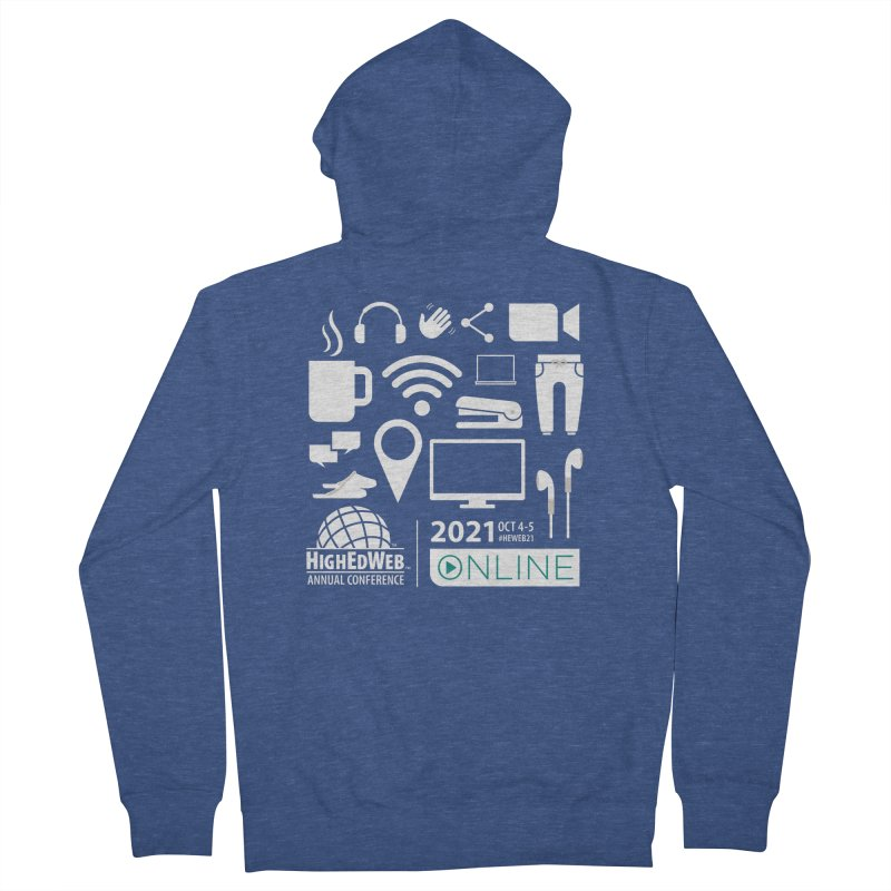 HighEdWeb 2021 Annual Conference — Reversed Men's Zip-Up Hoody by HighEdWeb Apparel and Accessories