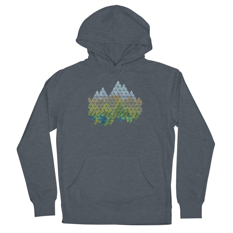 Mountain Landscape in Men's Pullover Hoody Heather Navy Denim by highkicktravel's Artist Shop