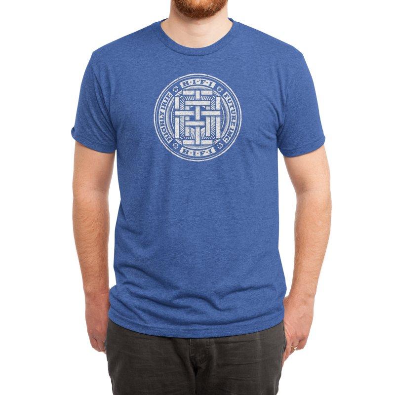 HIFI BADGE (white) Men's T-Shirt by Highly Irie Future Inc