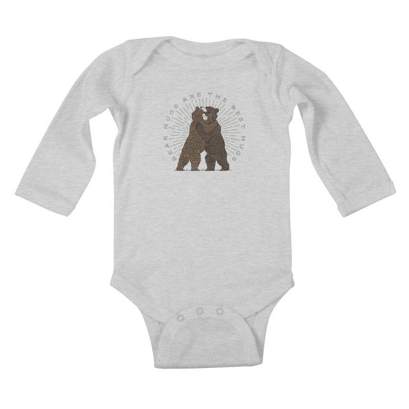 BEAR HUGS Kids Baby Longsleeve Bodysuit by Highly Irie Future Inc