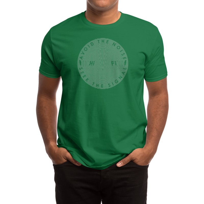 SIGNAL SEEKER Men's T-Shirt by Highly Irie Future Inc