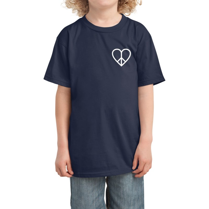 PEACE + LOVE Kids T-Shirt by Highly Irie Future Inc