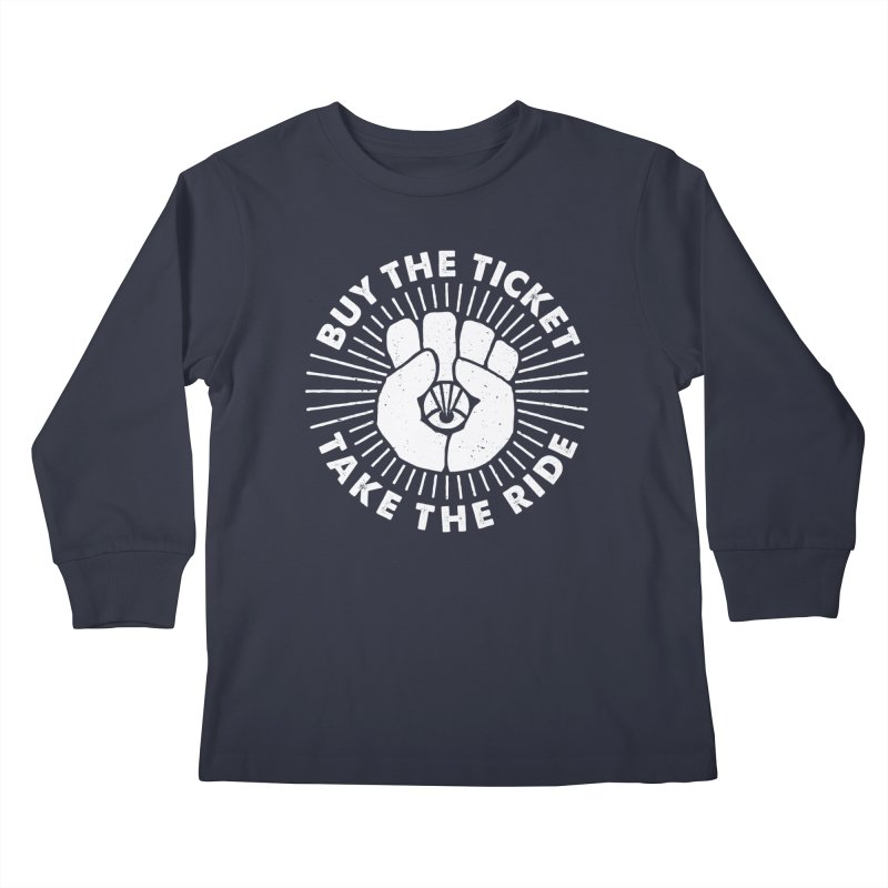 GONZO MANTRA (white) Kids Longsleeve T-Shirt by Highly Irie Future Inc