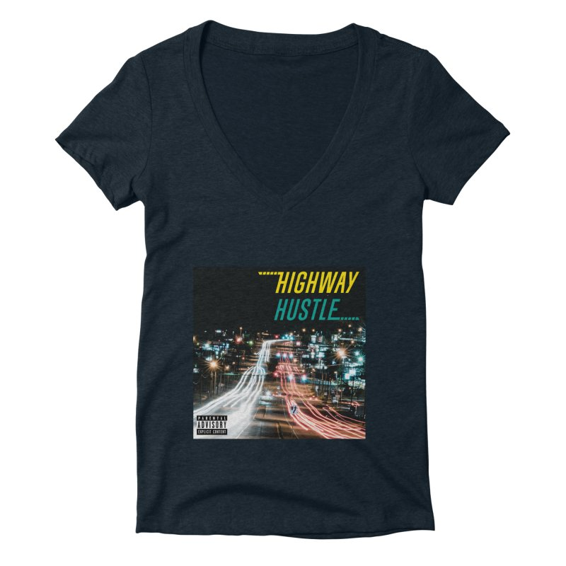 THE FA$T LIFE COLLECTION Women's Deep V-Neck V-Neck by Highway Hustle Fan Merch