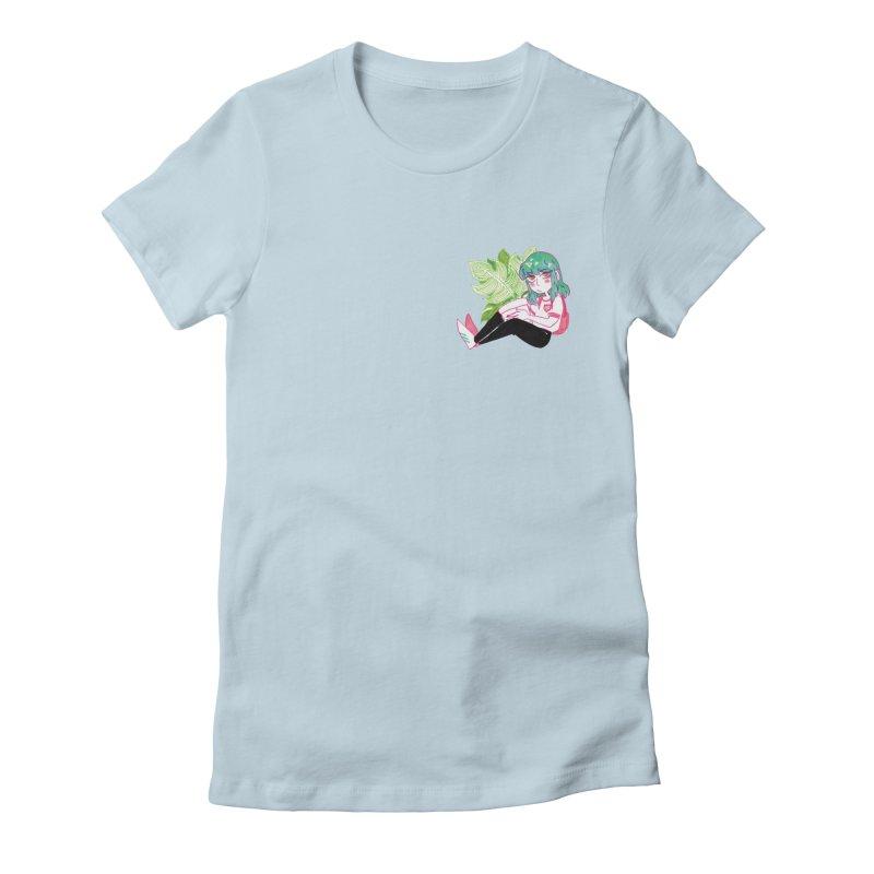 little friends Women's Fitted T-Shirt by HIGU ROSE