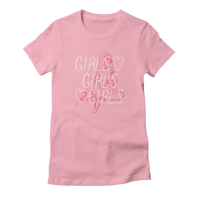 GIRLS GIRLS GIRLS Women's T-Shirt by HIGU ROSE