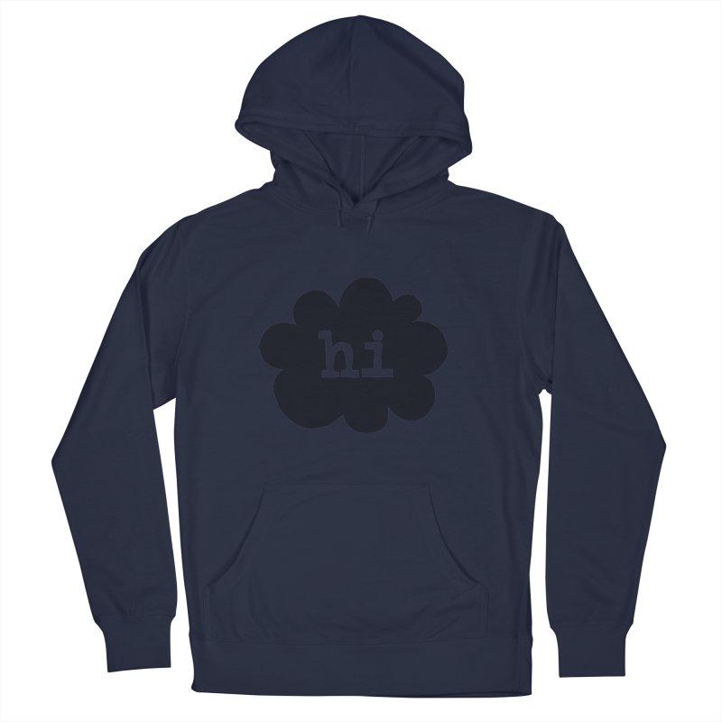 Cloud Hi (Smoke) Men's Pullover Hoody by Hi Hello Greetings