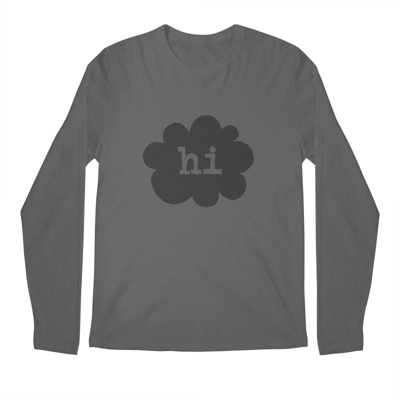 Cloud Hi (Smoke) Men's Longsleeve T-Shirt by Hi Hello Greetings