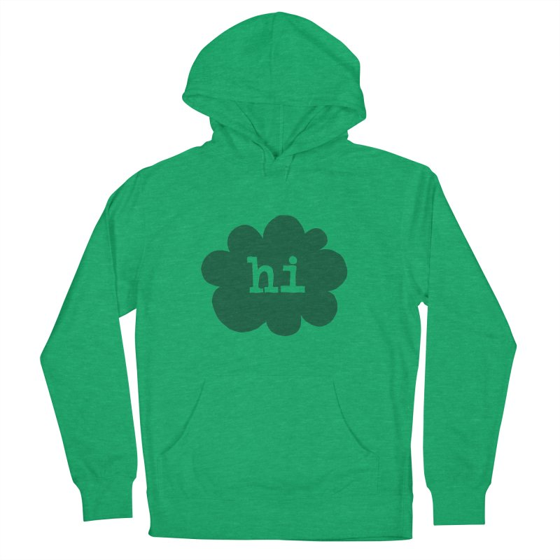 Cloud Hi (Smoke) Women's French Terry Pullover Hoody by Hi Hello Greetings