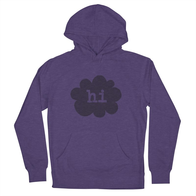Cloud Hi (Smoke) Women's Pullover Hoody by Hi Hello Greetings