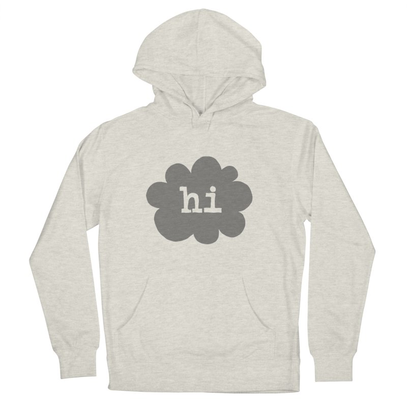 Cloud Hi (Smoke) Men's French Terry Pullover Hoody by Hi Hello Greetings