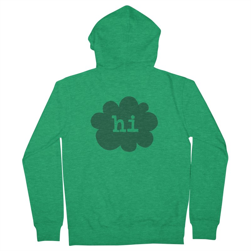 Cloud Hi (Smoke) Women's French Terry Zip-Up Hoody by Hi Hello Greetings