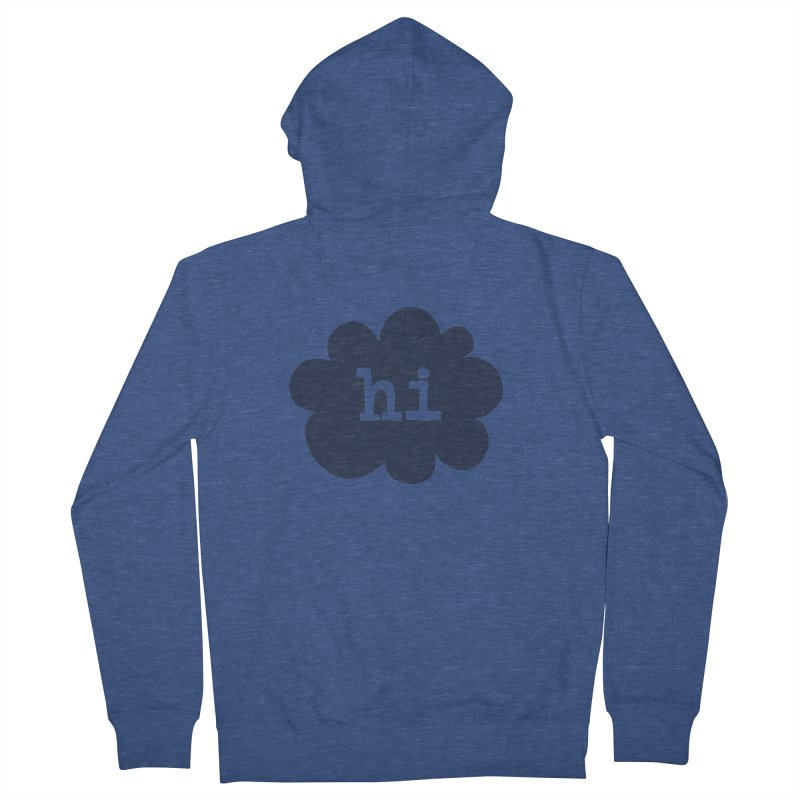 Cloud Hi (Smoke) Men's Zip-Up Hoody by Hi Hello Greetings
