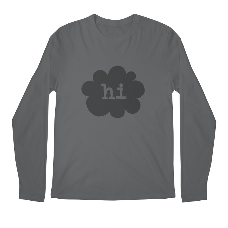 Cloud Hi (Smoke) Men's Regular Longsleeve T-Shirt by Hi Hello Greetings