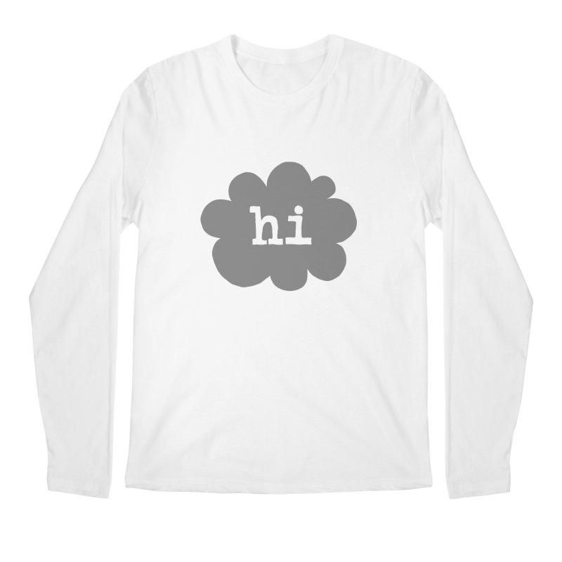 Cloud Hi (Smoke) Men's Regular Longsleeve T-Shirt by Hi Hello Greetings