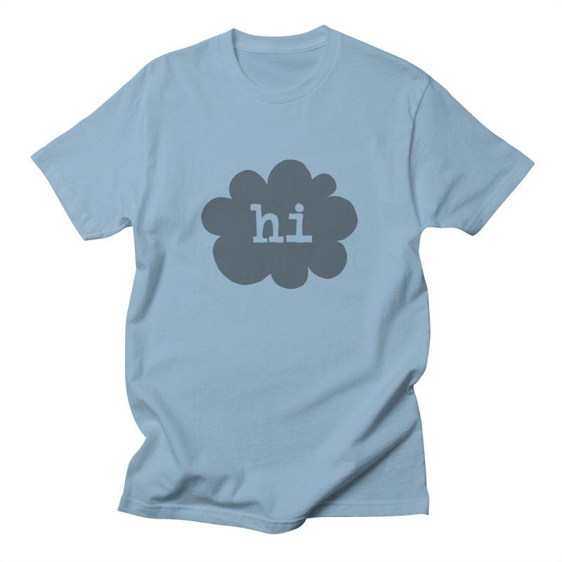 Cloud Hi (Smoke) Men's T-Shirt by Hi Hello Greetings