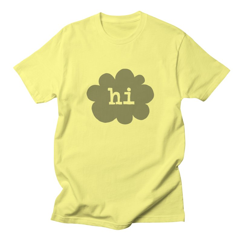Cloud Hi (Smoke) Men's Regular T-Shirt by Hi Hello Greetings