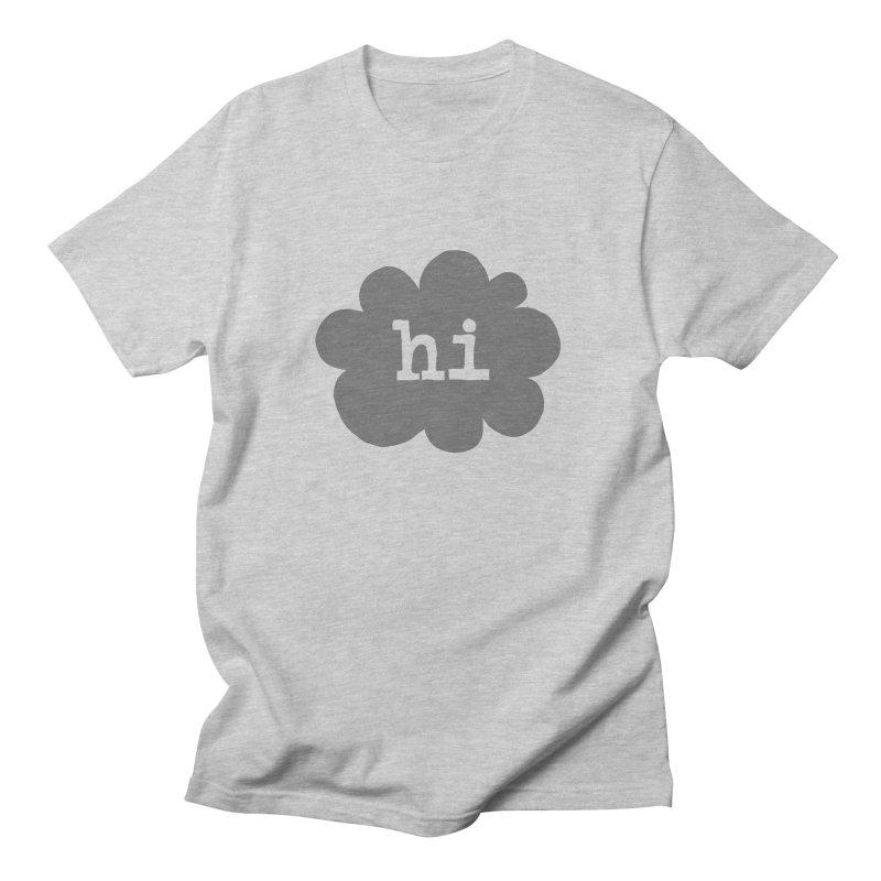 Cloud Hi (Smoke) Men's Regular T-Shirt by Hi Hello Greetings