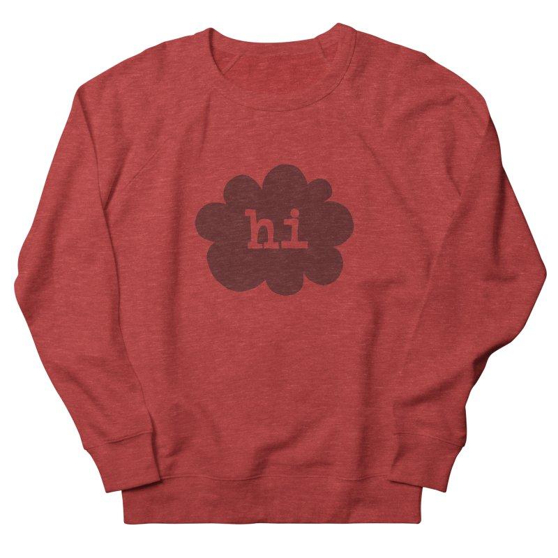 Cloud Hi (Smoke) Men's French Terry Sweatshirt by Hi Hello Greetings