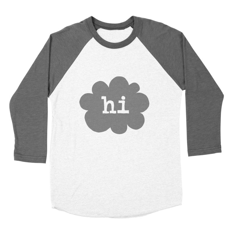 Cloud Hi (Smoke) Men's Baseball Triblend Longsleeve T-Shirt by Hi Hello Greetings