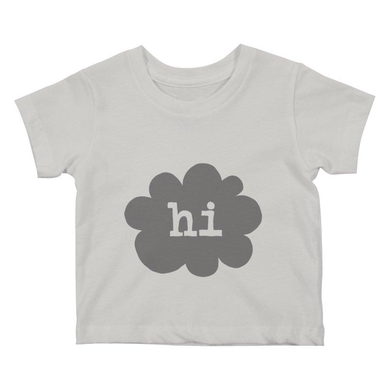Cloud Hi (Smoke) Kids Baby T-Shirt by Hi Hello Greetings