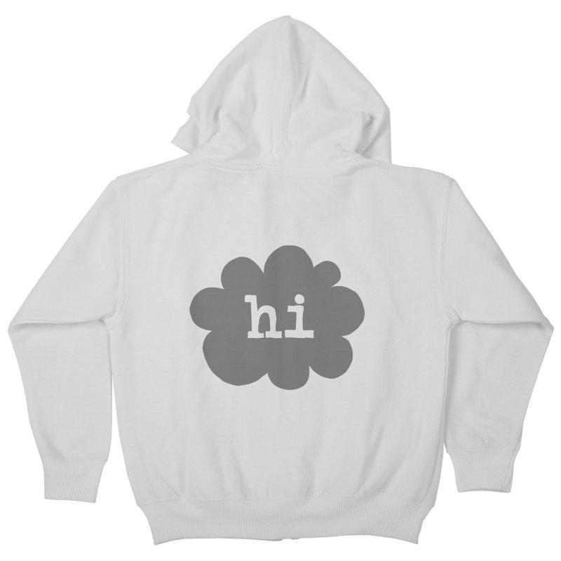 Cloud Hi (Smoke) Kids Zip-Up Hoody by Hi Hello Greetings
