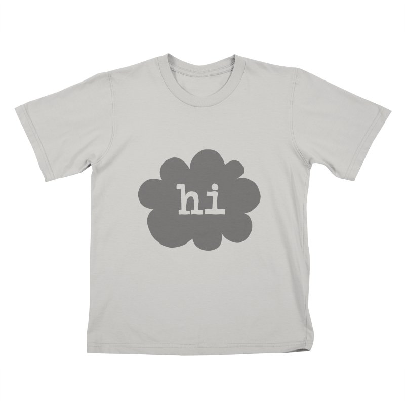Cloud Hi (Smoke) Kids T-Shirt by Hi Hello Greetings