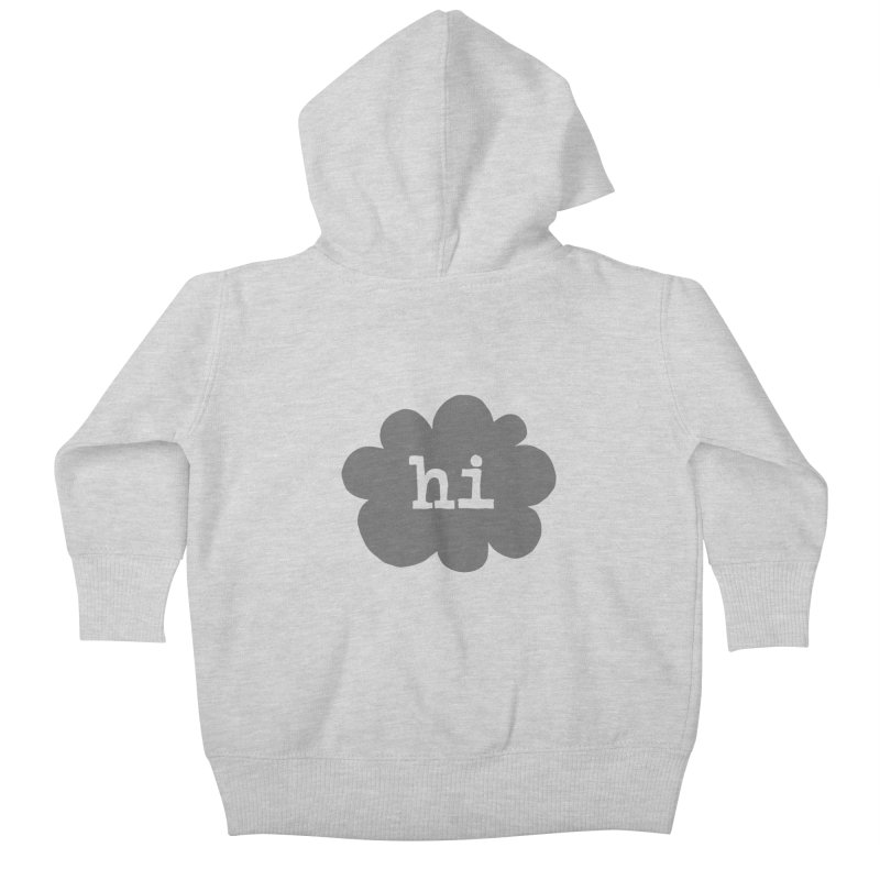 Cloud Hi (Smoke) Kids Baby Zip-Up Hoody by Hi Hello Greetings
