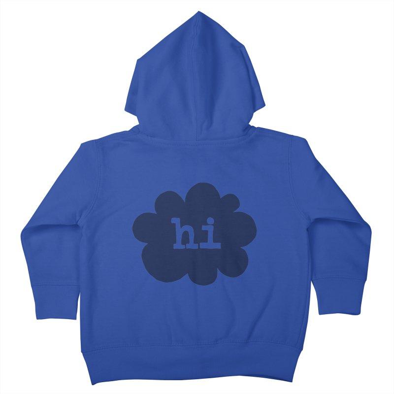 Cloud Hi (Smoke) Kids Toddler Zip-Up Hoody by Hi Hello Greetings