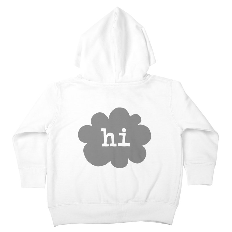 Cloud Hi (Smoke) Kids Toddler Zip-Up Hoody by Hi Hello Greetings