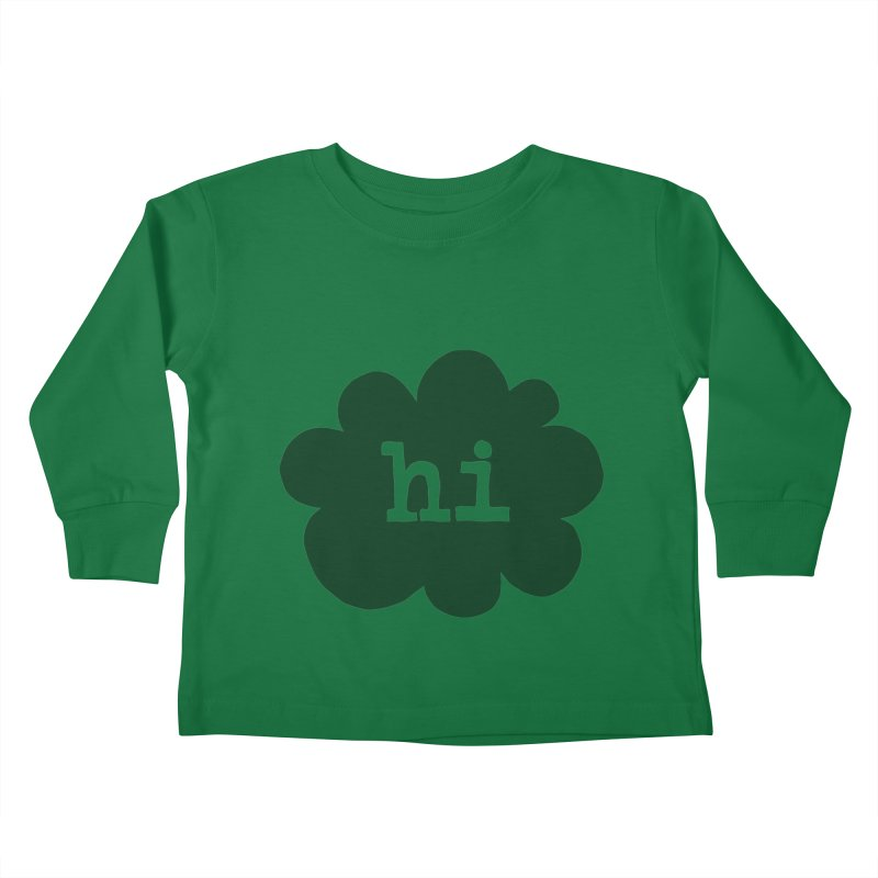 Cloud Hi (Smoke) Kids Toddler Longsleeve T-Shirt by Hi Hello Greetings