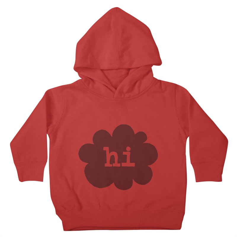 Cloud Hi (Smoke) Kids Toddler Pullover Hoody by Hi Hello Greetings