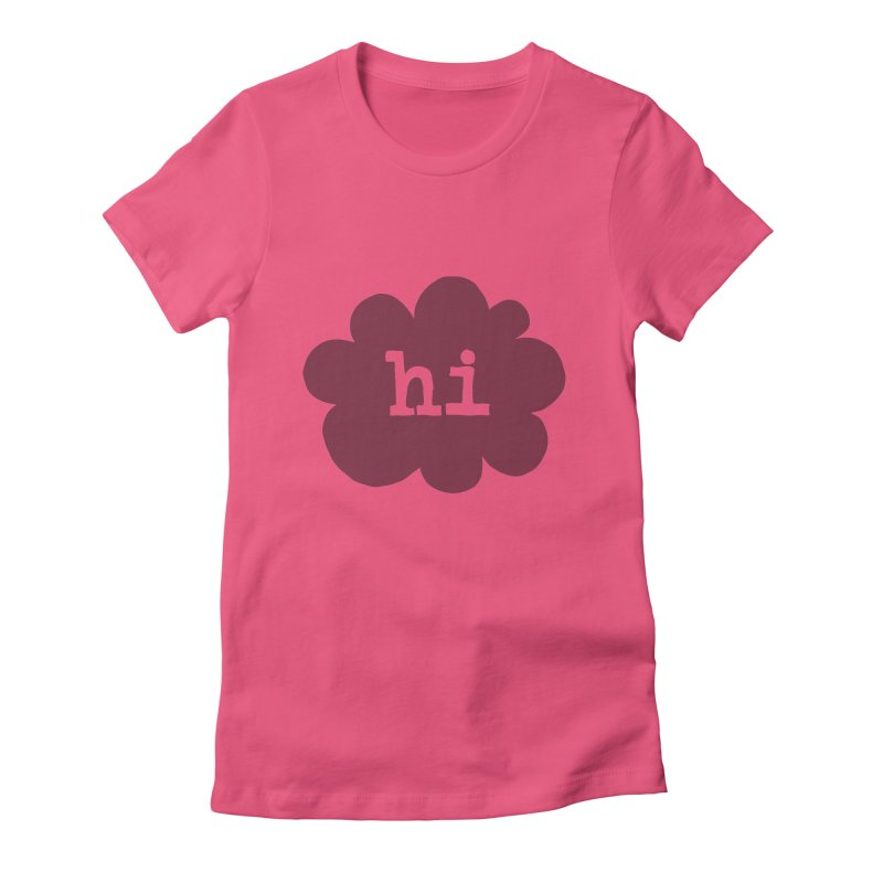 Cloud Hi (Smoke) Women's Fitted T-Shirt by Hi Hello Greetings