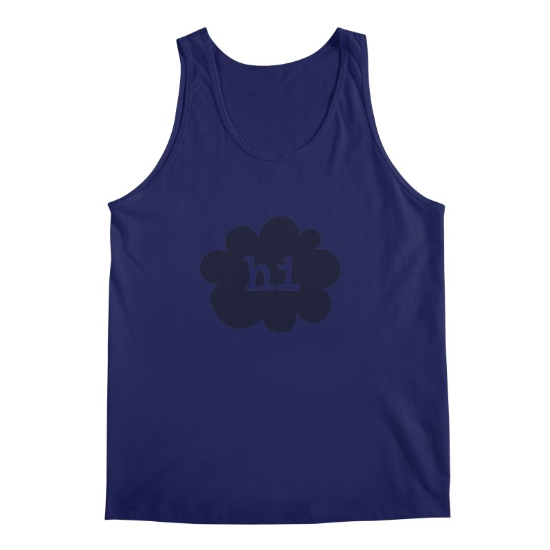 Cloud Hi (Smoke) Men's Regular Tank by Hi Hello Greetings