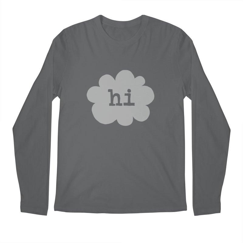Cloud Hi (Fog) Men's Longsleeve T-Shirt by Hi Hello Greetings